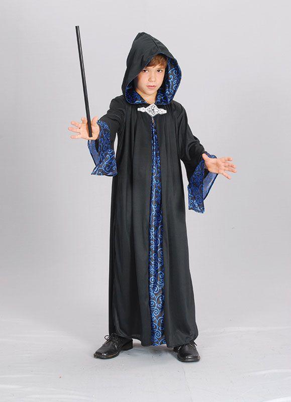 Kids Medieval Wizard Robe Boys Book Week Halloween Party Fancy Dress