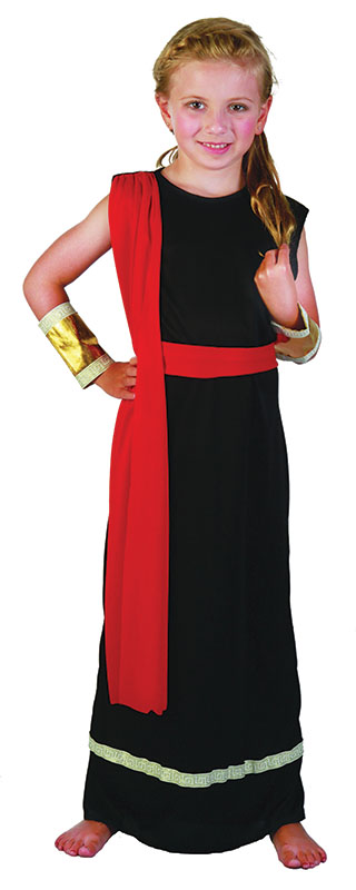 Childs Roman Girl Black Costume