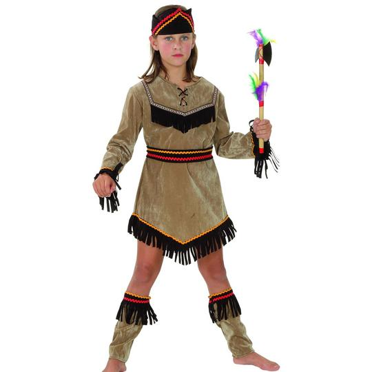 Childs Indian Girl Deluxe Costume Thumbnail 1