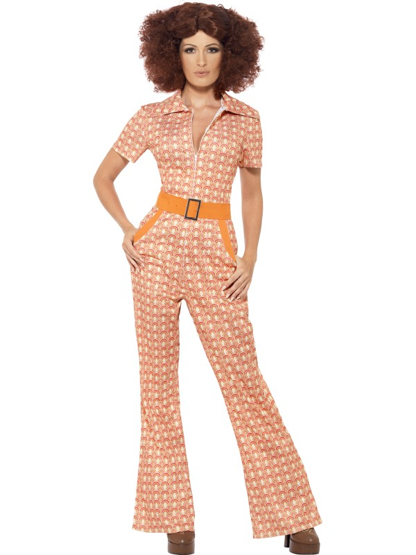 70's Disco Chic Ladies Fancy Dress Costume Hen Party Outfit UK Size 8 - 22