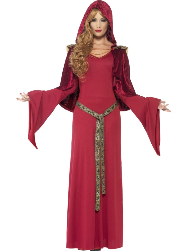 Priestess Medieval Maiden Warrior Womens Costume Ladies Fancy Dress Outfit