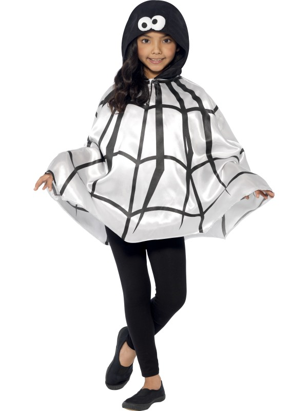 SALE Kids Spooky Spider Cape Girls Halloween Party Fancy Dress Costume Accessory