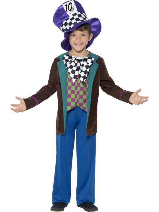 SALE Kids Deluxe Wonderland Mad Hatter Boys Book Week Fancy Dress Childs Costume Thumbnail 1