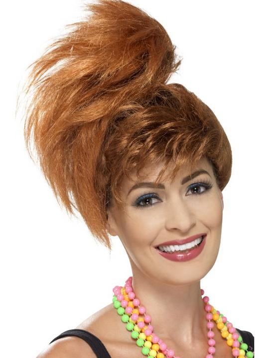 80's Side Ponytail Wig with Fringe Thumbnail 1