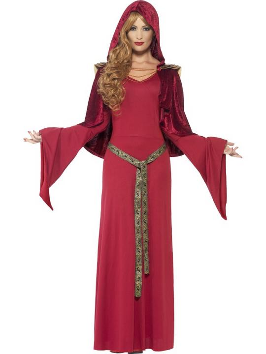 Deluxe Sexy Red High Priestess Ladies Halloween Fancy Dress Costume Size 8 - 18 Thumbnail 1