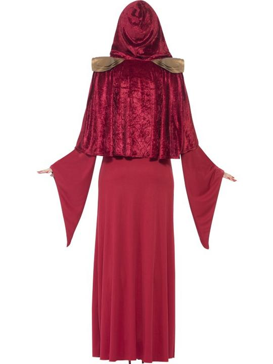 Deluxe Sexy Red High Priestess Ladies Halloween Fancy Dress Costume Size 8 - 18 Thumbnail 2