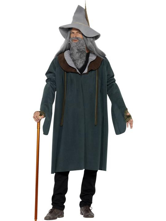 Adult Magic Wizard Of The Woods Mens Halloween Party Fancy Dress Costume Outfit Thumbnail 1