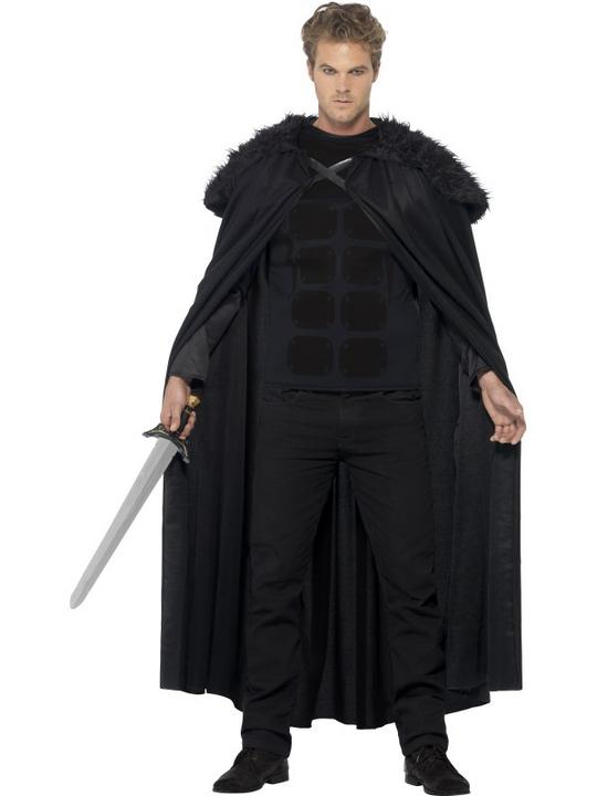 Adult Game Of Thrones Style Dark Barbarian Mens Halloween Fancy Dress Costume Thumbnail 1