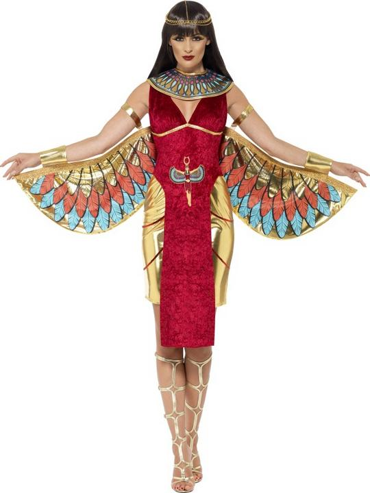WOW! Adult Egyptian Queen Goddess Isis Ladies Fancy Dress Costume Party Outfit Thumbnail 1