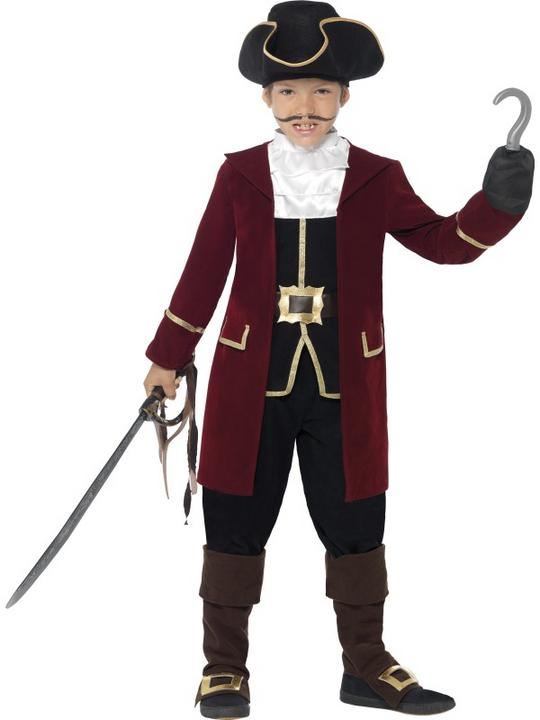 Boys Pirate Buccaneer Costume Kids Fancy Dress Outfit Book Week Party Dressup Thumbnail 1