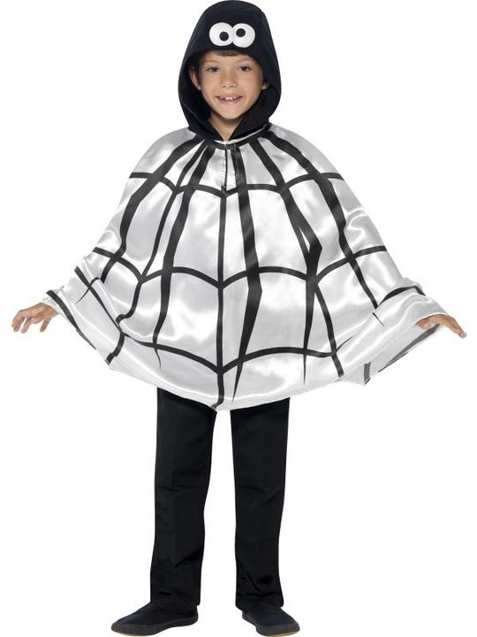 SALE Kids Spooky Spider Cape Girls Halloween Party Fancy Dress Costume Accessory Thumbnail 2