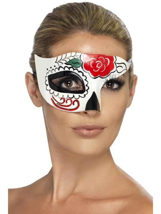 Day of the Dead Half Eye Mask Thumbnail 1
