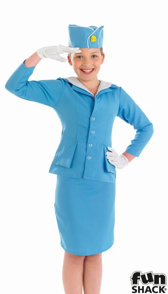 Flight Attendant Costume For Kids Eydt