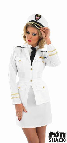 40s Lady Naval Officer Fancy Dress Costume