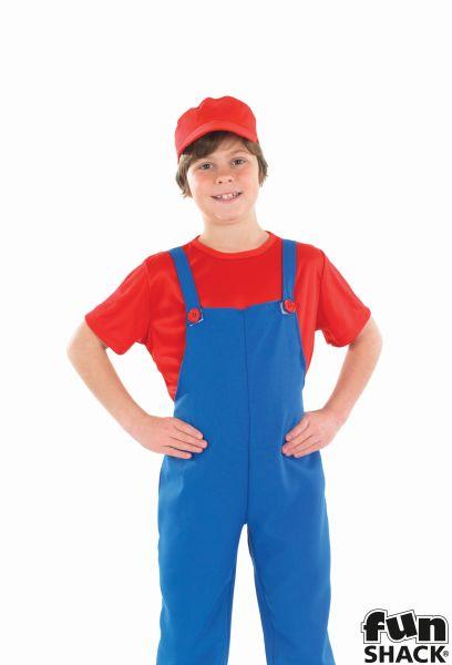 Little red Plumbers Mate Boy's Fancy Dress Costume