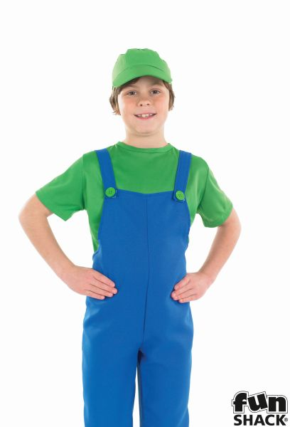 Little green Plumbers Mate Boy's Fancy Dress Costume