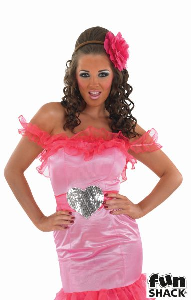 Pink Gypsy Bridesmaid Fancy Dress Costume