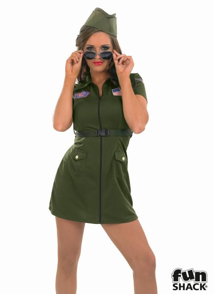 Aviator Girl Fancy Dress Costume