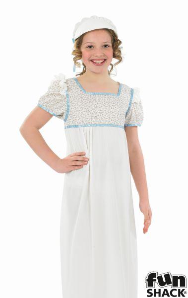 Regency Girl Fancy Dress Costume