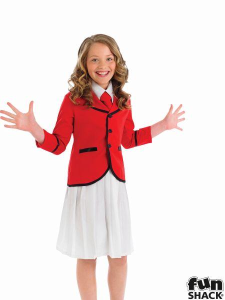 Girls Holiday Camp Helper Fancy Dress Costume