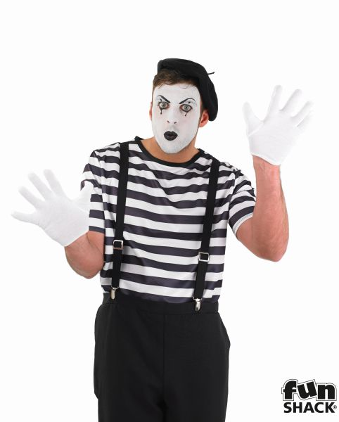 Mime Artist Fancy Dress Costume