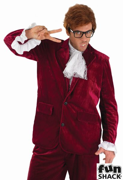 60s Red Gigolo Fancy Dress  Costume
