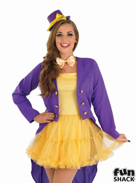 Chocolate Factory Owner Costume Ladies Book Week Fancy Dress Party Outfit