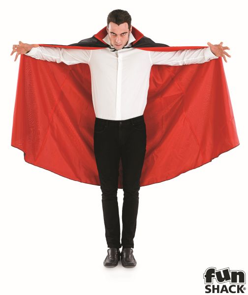 Black Vampire Cape With Red Lining