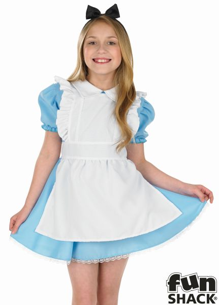Girls Traditional Alice Fancy Dress Costume