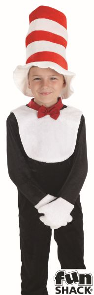 """Mr Tom """"Cat in the Hat"""" Style BookWeek Boys and Girls Fancy Dress Costume"""
