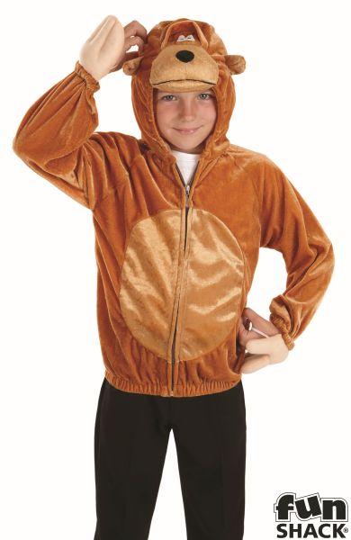Kids Zoo Animal Funny Monkey Girls / Boys Book Week Fancy Dress Childs Costume