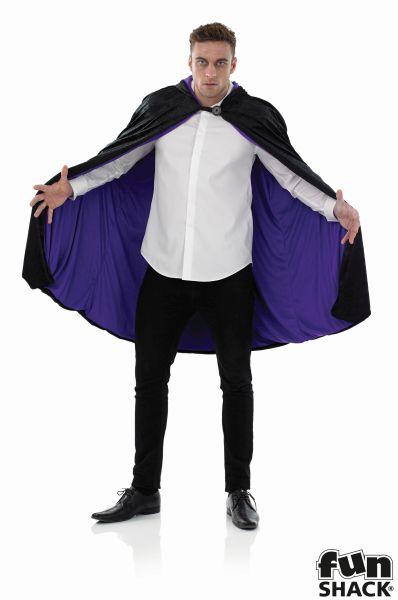 Short Hooded Purple Cape