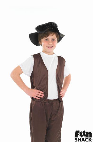 Boys Tudor Costume Kids School Book week Fancy Dress Story Outfit Thumbnail 1