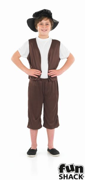 Boys Tudor Costume Kids School Book week Fancy Dress Story Outfit Thumbnail 2