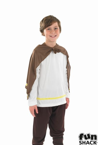 Boys Book Week Viking Warrior Costume Kids Fancy Dress Story Outfit Thumbnail 1