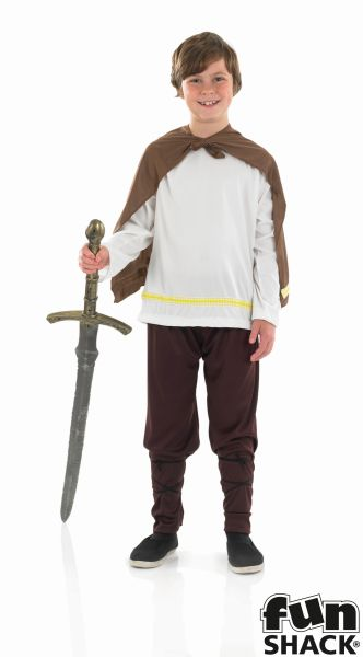Boys Book Week Viking Warrior Costume Kids Fancy Dress Story Outfit Thumbnail 2