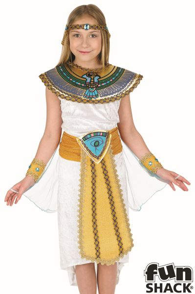 Girls Book Week Cleopatra Egyptian Girl Costume Kids Fancy Dress Outfit Thumbnail 1