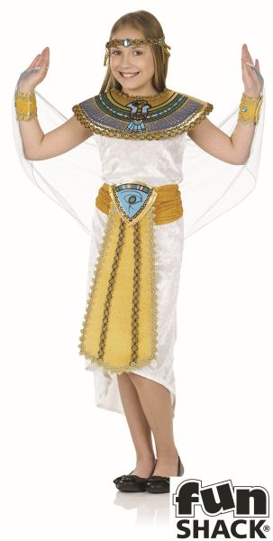 Girls Book Week Cleopatra Egyptian Girl Costume Kids Fancy Dress Outfit Thumbnail 2
