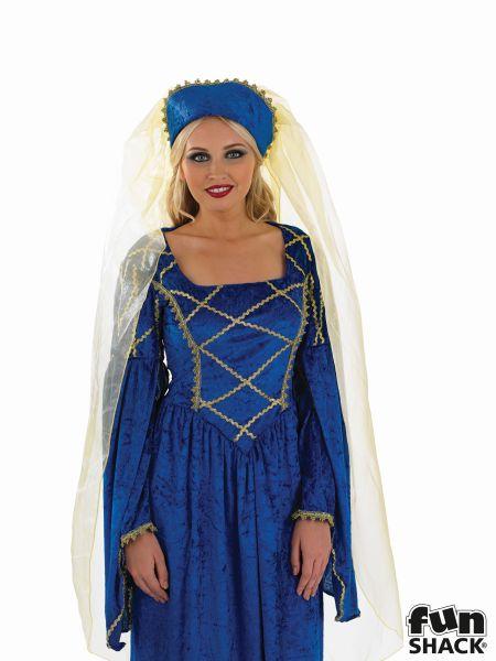 Tudor Lady Royal  Fancy Dress Costume Thumbnail 1