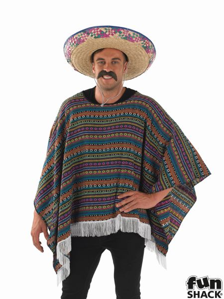 Poncho Fancy Dress Costume Thumbnail 1