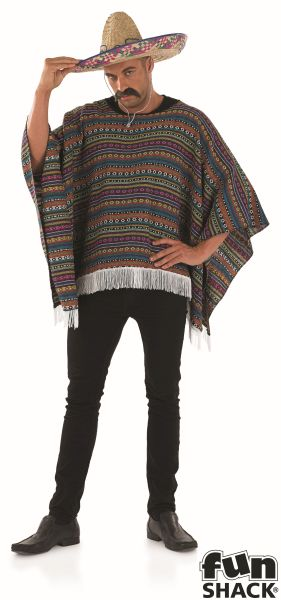 Poncho Fancy Dress Costume Thumbnail 2