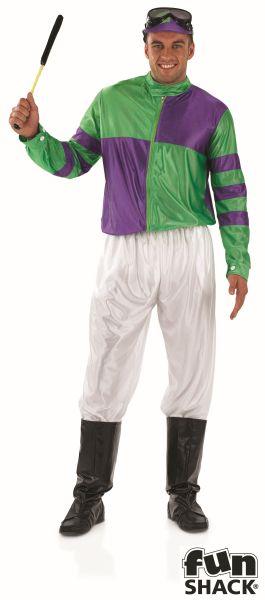 Green and Purple Jockey Fancy Dress Costume  Thumbnail 2
