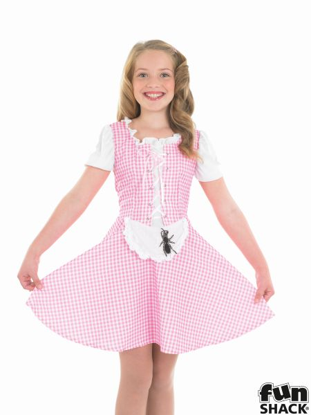 Kids Storybook Miss Muffet Girls Book Week Fancy Dress Childs Costume Outfit Thumbnail 1