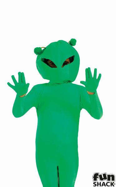 SALE! Kids Green Space Alien Boys Book Week Halloween Fancy Dress Childs Costume Thumbnail 1