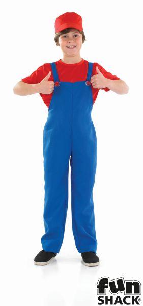 Little red Plumbers Mate Boy's Fancy Dress Costume Thumbnail 2