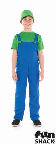 Little green Plumbers Mate Boy's Fancy Dress Costume Thumbnail 2