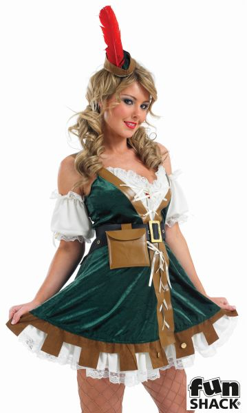 Sexy Robin Hood Fancy Dress Costume Thumbnail 1