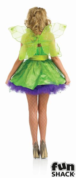 Deluxe Sexy Fairy Nymph Ladies Fancy Dress Costume Hen Party Outfit Size 8 - 26  Thumbnail 2