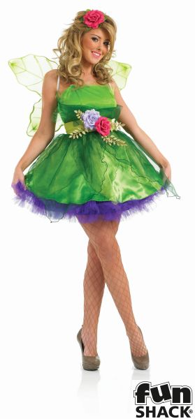 Deluxe Sexy Fairy Nymph Ladies Fancy Dress Costume Hen Party Outfit Size 8 - 26  Thumbnail 3