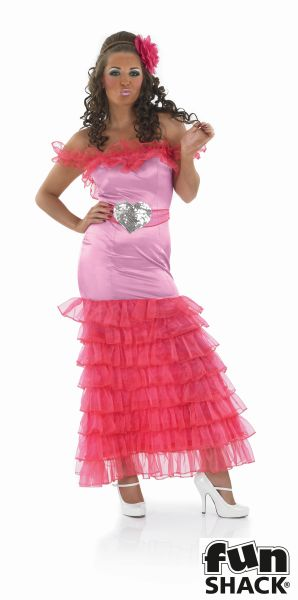 Pink Gypsy Bridesmaid Fancy Dress Costume Thumbnail 2